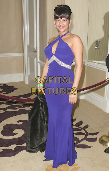 CARMEN HART.18th Annual Night of 100 Stars Gala celebrating the 80th Academy Oscar Awards held at the Beverly Hills Hotel, Beverly Hills, California, USA,.24 February 2008..full length purple dress.CAP/ADM/CH.?Charles Harris/Admedia/Capital PIctures