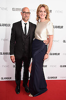Stanley Tucci and wife, Felicity Blunt<br /> arrives for the Glamour Women of the Year Awards 2016, Berkley Square, London.<br /> <br /> <br /> &copy;Ash Knotek  D3130  07/06/2016