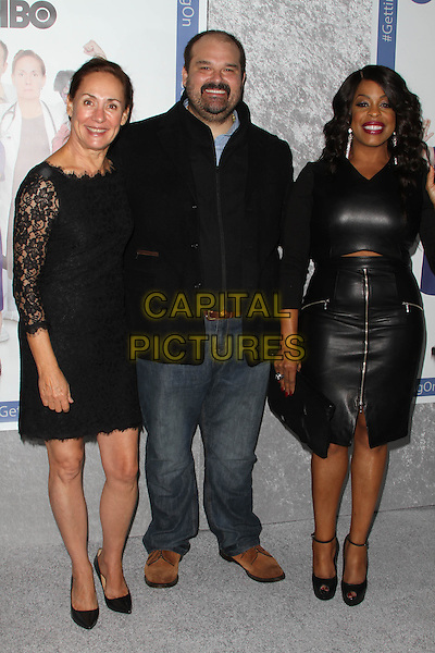 28 October 2014 - Hollywood, California - Laurie Metcalf, Mel Rodriguez and Niecy Nash. HBO's comedy Series &quot;Getting On&quot; Season 2 Los Angeles Premiere held at Avalon Hollywood.  <br /> CAP/ADM<br /> &copy;AdMedia/Capital Pictures
