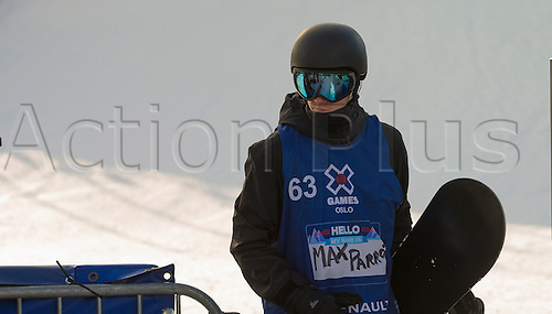 26.02.2016. Wyller Oslo Winter Park, Oslo, Norway. Red Bull X Games. Mens Snowboard Big Air  Round 1.  Max Parrot of Canada<br />