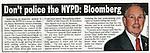 Mayor Michael Bloomberg - New York Post, 10/09/2012