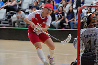 Singapore&rsquo;s Shannon Yeo in action during the World Floorball Championships 2017 Qualification for Asia Oceania Region - Singapore v Thailand at ASB Sports Centre , Wellington, New Zealand on Sunday 5 February 2017.<br /> Photo by Masanori Udagawa<br /> www.photowellington.photoshelter.com.