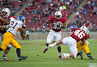 STANFORD, CA - August 31, 2012: Stanford running back Stepfan Taylor (33) during the Stanford Cardinal vs San Jose St. Spartans at Stanford Stadium in Stanford, CA. Final score Stanford Cardinal 20, San Jose St 17.