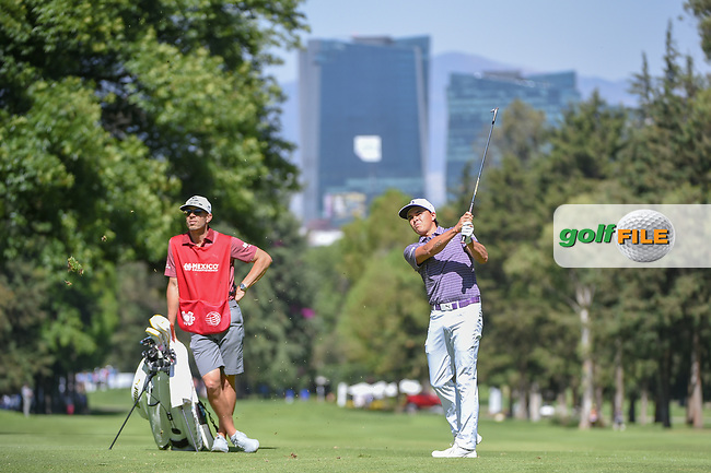 Rickie Fowler (USA) watches his approach shot on 6 during round 1 of the World Golf Championships, Mexico, Club De Golf Chapultepec, Mexico City, Mexico. 2/21/2019.<br /> Picture: Golffile | Ken Murray<br /> <br /> <br /> All photo usage must carry mandatory copyright credit (© Golffile | Ken Murray)