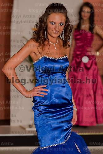 Agnes Makai participates the Miss Hungary beauty contest held in Budapest, Hungary on December 29, 2011. ATTILA VOLGYI