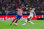 Atletico de Madrid's Thomas Teye and Rayo Vallecano's Alvaro Garcia during La Liga match. August 25, 2018. (ALTERPHOTOS/A. Perez Meca)