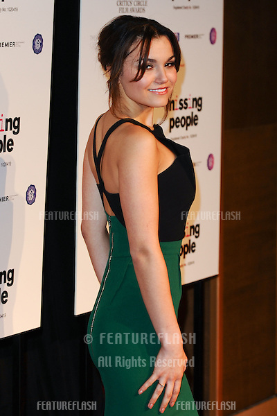 Samantha Barks arrives for the Critics Circle Film Awards 2013 at the Mayfair Hotel, London. 20/01/2013 Picture by: Steve Vas / Featureflash