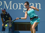 Jamie Loeb (USA) loses to Caroline Wozniacki (DEN)  6-2, 6-0 at the US Open in Flushing, NY on September 1, 2015.