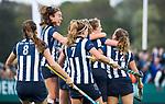 BLOEMENDAAL  - Hockey -  finale KNHB Gold Cup dames, Bloemendaal-HDM . Bloemendaal wint na shoot outs. Hester van der Veld (HDM) scoort 1-1..   COPYRIGHT KOEN SUYK