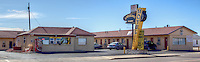 "The Americana Motel  in Tucumcari New Mexico, known as ""The Gateway City of Murals"" on Route 66."