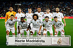 Team photo of Real Madrid during La Liga match between Real Madrid and Real Sociedad at Santiago Bernabeu Stadium in Madrid, Spain. February 06, 2020. (ALTERPHOTOS/A. Perez Meca)