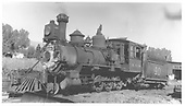 Fireman's side view of RGS 2-8-0 #40 in Ridgway.<br /> RGS  Ridgway, CO  Taken by Herman, B. - 8/30/1938