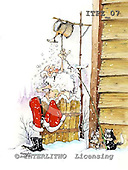 Fabrizio, Comics, CHRISTMAS SANTA, SNOWMAN, paintings, ITFZ07,#x# Weihnachten, Navidad, illustrations, pinturas