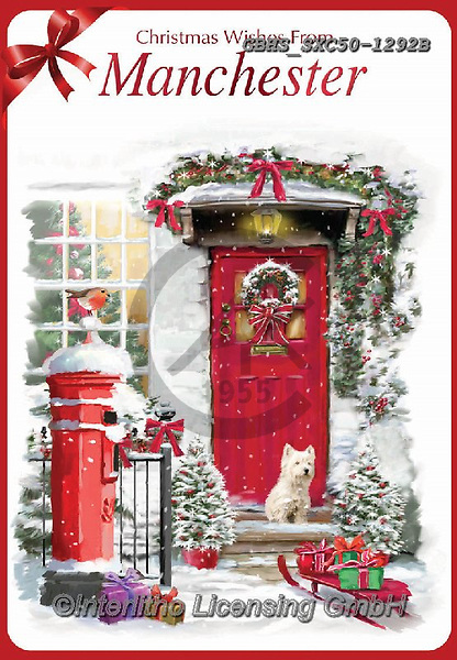 John, CHRISTMAS SYMBOLS, WEIHNACHTEN SYMBOLE, NAVIDAD SÍMBOLOS, paintings+++++,GBHSSXC50-1292B,#xx#,post box,mailbox
