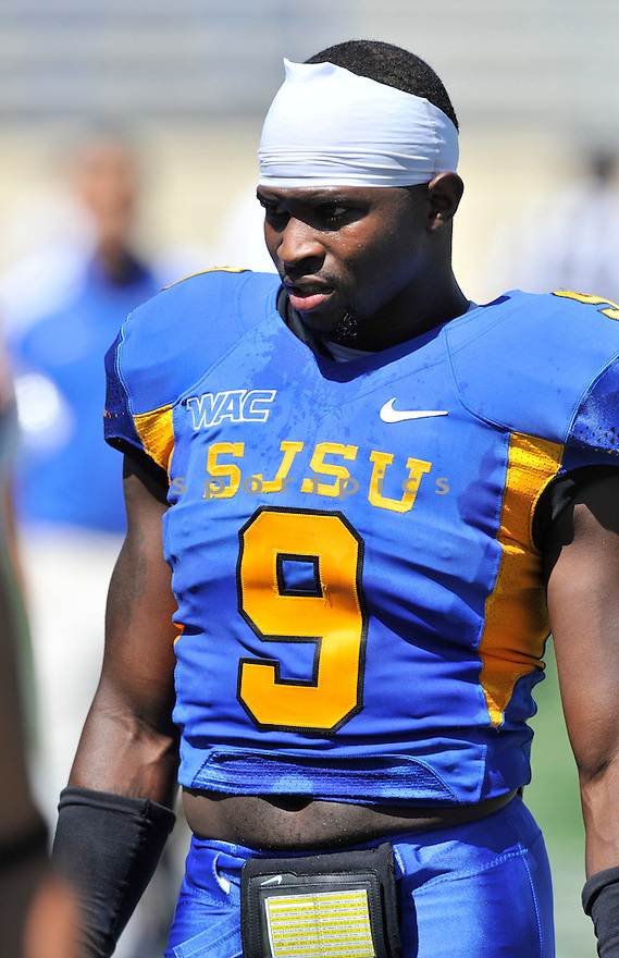 BRANDON RUTLEY, of the San Jose State Spartans, in action during San Jose State's game against Nevada on September 17, 2011 at Spartan Stadium in San Jose, CA. Nevada beat San Jose State 17-14.