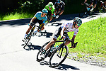 White jersey Emanuel Buchmann (GER) Bora-Hansgrohe descending during Stage 8 of the Criterium du Dauphine 2017, running 115km from Albertville to Plateau de Solaison, France. 11th June 2017. <br /> Picture: ASO/A.Broadway | Cyclefile<br /> <br /> <br /> All photos usage must carry mandatory copyright credit (&copy; Cyclefile | ASO/A.Broadway)