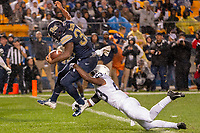 Pitt running back Qadree Ollison scores on a 13-yard touchdown run despite the efforts of Penn State safety Ayron Monroe (23). The Penn State Nittany Lions defeated the Pitt Panthers 51-6 on September 08, 2018 at Heinz Field in Pittsburgh, Pennsylvania.