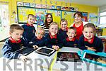 The new Juniors who started school in S.N.Cillín Liath on the 29th August were l-r; Iarlaith Ó Conchúir, Ryan Ó Curráin, Maura Bríd Ní Chróinín, Ella Ní Laoire, Timmy Ó Súilleabháin, Noah Ó Conchúir, Dearbhle Ní Churráin, back l-r; Elaine Joy(Príomhoide) agus Múinteoir Maeve.