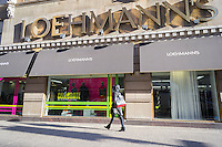 A Loehmann's department store in the Chelsea neighborhood of New York on Thursday, December 12, 2013. The women's clothing retailer is reported to be considering filing for bankruptcy protection for the third time. The off-price merchandiser is facing the same problems that besieged its defunct rivals, Sym's, Filene's and Daffy's, the production of goods has been streamlined by computerization resulting in less excess inventory that manufacturers must unload.  (© Richard B. Levine)