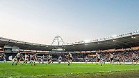 Picture by Allan McKenzie/SWpix.com - 19/04/2018 - Rugby League - Betfred Super League - Hull FC v Leeds Rhinos - KC Stadium, Kingston upon Hull, England - A general view, gv, of Hull FC playing Leeds.