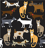 Kate, CUTE ANIMALS, LUSTIGE TIERE, ANIMALITOS DIVERTIDOS, paintings+++++Cats & dogs page 39 1,GBKM85,#ac#, EVERYDAY ,dogs,dog