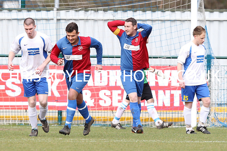 Hampshire Cup Final - Knighton Arms beat Queens Park 3-0 at Totton FC ground - 18-03-12 -