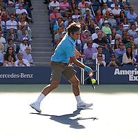 Roger Federer (SUI) (2) against Novak Djokovic (SRB) (3) in the Semi-Finals of the men's singles. Novak Djokovic beat Roger Federer 5-7 6-1 5-7 6-2 7-5..International Tennis - US Open - Day 13 - 11 Sep 2010 - USTA Billie Jean King National Tennis Center - ..© AMN Images, Level 1, Barry House, 20-22 Worple Road, London, UK, SW19 6HU.Tel - +44 20 8947 0100.email - mfrey@advantagemedianet.com.web - http://amnimages.photoshelter.com/.web - www.advantagemedianet.com