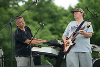 NWA Democrat-Gazette/BEN GOFF @NWABENGOFF<br /> The Downtown Livewires, with Kurt Haas on keyboard and Dan Doebele on lead guitar, play Tuesday, July 3, 2018, during the Bella Vista Independence Day Blues Festival at Loch Lomond in Bella Vista.