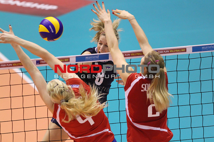 04.01.2014., Gimnasium Hall, Rovinj, Croatia - Qualifier volleyball tournament for the World Cup qualifications, Croatia - France.<br /> Mia Jerkov<br /> <br /> <br /> Foto &not;&copy;  nph / PIXSELL / Nel Pavletic