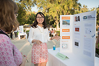 Shuyi Chen was an intern at Cancer Genetics Inc. Career Services hosts the Summer Experience Expo, where Occidental College student interns from the InternLA program and INT Internship course shared information about the organizations they worked for over the summer. Sept. 7, 2017 at Thorne Hall patio. Employers were also in attendance.<br /> (Photo by Marc Campos, Occidental College Photographer)