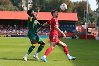 James Ball of Ebbsfleet United and Mitch Rose of Notts County during Ebbsfleet United vs Notts County, Vanarama National League Football at The Kuflink Stadium on 24th August 2019