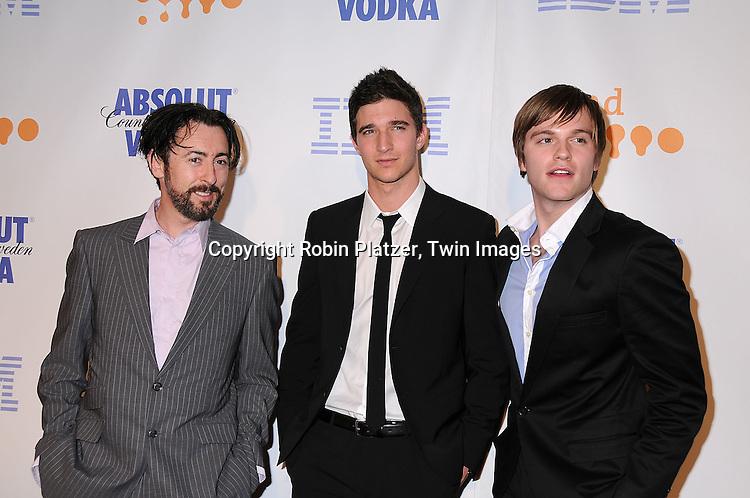 AlanCumming, Jake Silbermann and Van Hansis  posing for photographers at the 19th Annual GLAAD Media Awards on March 17, 2008 at The Marriott Marquis Hotel in New York City. .Robin Platzer, Twin Images