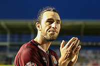 John-Joe O'Toole of Northampton Town applauds supporters after the Sky Bet League 2 match between Northampton Town and Morecambe at Sixfields Stadium, Northampton, England on 23 January 2016. Photo by David Horn / PRiME Media Images.