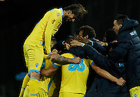 Gokhan Inler  celebrates after scoring  <br /> <br />  UEFA Europa League round of 32 second  leg match, betweenAC  Napoli  and Swansea City   at San Paolo stadium in Naples, Feburary 27 , 2014  <br /> <br />  Esultanza