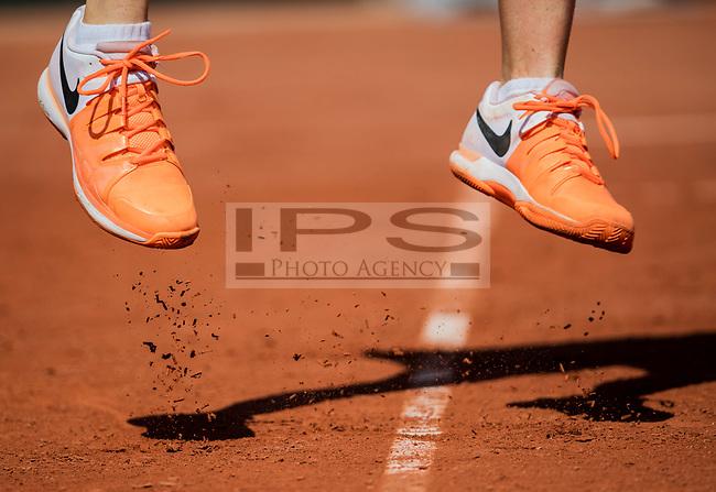 Detail of Alize Cornet's shoes. French Open Tennis Championships, Roland Garros, Paris, France 1st June 2017.