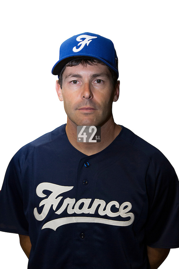 18 September 2012: Patrice Briones poses prior to Team France practice, at the 2012 World Baseball Classic Qualifier round, in Jupiter, Florida, USA.