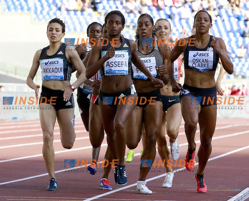 Winner 800m Women Tigist Assefa  ETH<br /> Roma 02-06-2016 Stadio Olimpico.<br /> IAAF Diamond League 2016<br /> Atletica Legera <br /> Golden Gala Meeting - Track and Field Athletics Meeting<br /> Foto Cesare Purini / Insidefoto