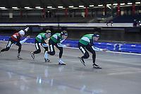 SCHAATSEN: HEERENVEEN: Thialf, 25-06-2012, Zomerijs, TVM schaatsploeg, Konrad Niedzwiedzki, Douwe de Vries, Jan Blokhuijsen, Sven Kramer, ©foto Martin de Jong