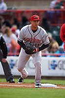 Richmond Flying Squirrels first baseman Ricky Oropesa (33) during a game against the Erie Seawolves on May 20, 2015 at Jerry Uht Park in Erie, Pennsylvania.  Erie defeated Richmond 5-2.  (Mike Janes/Four Seam Images)