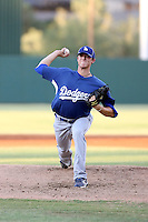 Ralston Cash - AZL Dodgers - 2010 Arizona League. Cash, the Dodgers 2nd round draft pick, pitches against the Angels in his first professional game, at Tempe Diablo Stadium, Tempe, AZ - 07/15/2010.Photo by:  Bill Mitchell/Four Seam Images..
