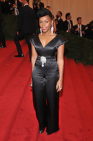 Janelle Monae at the 'Schiaparelli And Prada: Impossible Conversations' Costume Institute Gala at the Metropolitan Museum of Art on May 7, 2012 in New York City. © mpi03/MediaPunch Inc.