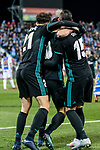 Players of Real Madrid celebrate Marco Asensio Willemsen's goal during the Copa del Rey 2017-18 match between CD Leganes and Real Madrid at Estadio Municipal Butarque on 18 January 2018 in Leganes, Spain. Photo by Diego Gonzalez / Power Sport Images