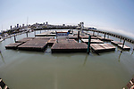 No Sea Lions are present on pier 39 in San Francisco, California. (Photo by Brian Garfinkel)