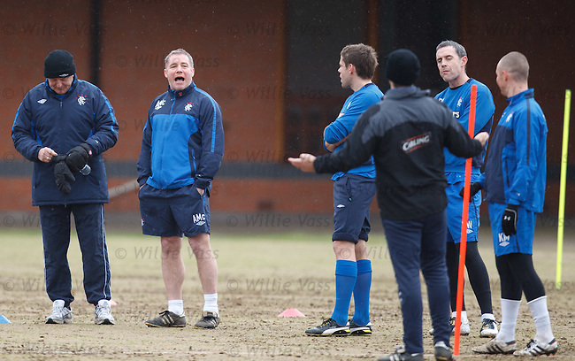 Ally McCoist picks on Kenny Miller to contest the sprints finals