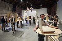 55th Art Biennale in Venice - The Encyclopedic Palace (Il Palazzo Enciclopedico).<br /> Arsenale.<br /> Italian Pavilion, exhibition &quot;vice versa&quot;.<br /> Marcello Maloberti (Italy). &quot;La voglia matta&quot;, 2013