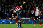 Oliver Norwood of Sheffield United heads the ball during the Premier League match at Bramall Lane, Sheffield. Picture date: 5th December 2019. Picture credit should read: James Wilson/Sportimage