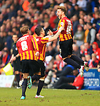 Billy Clarke of Bradford celebrates his opening goal - Bradford City vs. Sunderland - FA Cup Fifth Round - Valley Parade - Bradford - 15/02/2015 Pic Philip Oldham/Sportimage