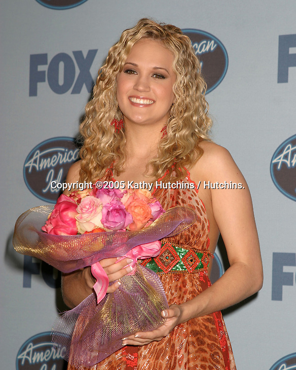 Carrie Underwood.WINNER  -  American Idol.American Idol 4 FInals.Kodak Theater.Hollywood & Highland.Los Angeles, CA .May 25, 2005.©2005 Kathy Hutchins / Hutchins...