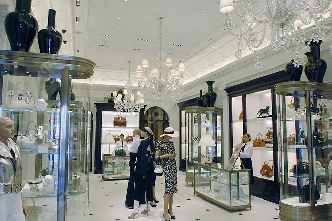 The ground floor room for accessories in the new Ralph Lauren store in Moscow. Moscow, Russia, May 14, 2007.