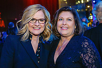 "NEW YORK - NOVEMBER 14:  Bonnie Hunt (L) and Catherine Scott attend a party following the premiere of Showtime's limited series ""Escape at Dannemora"" at Alice Tully Hall in Lincoln Center on November 14, 2018 in New York City. (Photo by Kena Betancur/Showtime/PictureGroup)"